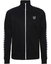 Fred Perry - Sports Authentic Taped Track Jacket In Black - Lyst