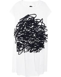 Rundholz - Oversized Scribble Print Tunic - Lyst