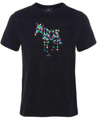 PS by Paul Smith - Organic Cotton Pixelated Zebra T-shirt - Lyst