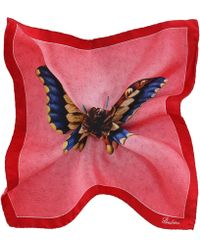 Stenstroms - Silk Butterfly Print Pocket Square - Lyst
