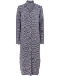 Grizas - Linen Blend Textured Kaleidoscope Tunic Dress - Lyst