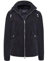 Armani - Flared Hem Windbreaker Jacket - Lyst