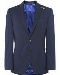 586878657 BOSS Navy Noswen Virgin Wool Blazer in Blue for Men - Lyst