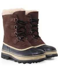 Sorel - Nubuck Leather Caribou Boots - Lyst