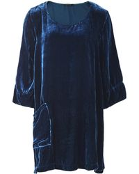 Grizas - Silk Blend Velvet Pocket Tunic - Lyst