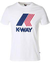 K-Way - Slim Fit Pete Macro Logo T-Shirt - Lyst