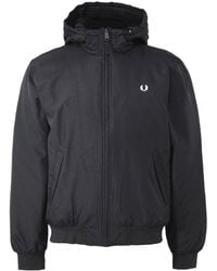 Fred Perry - Hooded Padded Brentham Jacket - Lyst