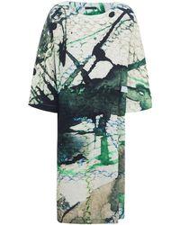 Crea Concept - Linen Scale Print Dress - Lyst