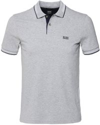BOSS - Slim Fit Pique Paul Polo Shirt - Lyst