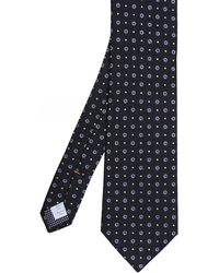 Eton of Sweden - Silk Floral Roundel Tie - Lyst