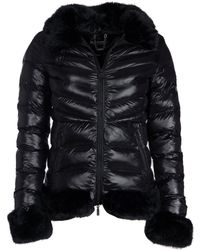 Barbour - Fur Trim Shiny Catalunya Quilted Jacket - Lyst