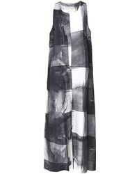 Crea Concept - Linen Blend Printed Wide Leg Jumpsuit - Lyst