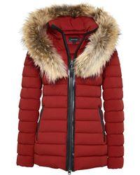 01f78d7d35d9 Lyst - Doudoune à capuche bordée de fourrure de marmotte Moncler ...