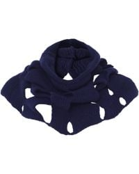 Crea Concept - Wool Blend Cut Out Scarf - Lyst