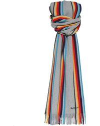 Paul Smith - Virgin Wool Artist Stripe Scarf - Lyst