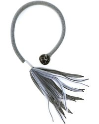 Christina Brampti - Flexible Rope Feathered Mesh Necklace - Lyst