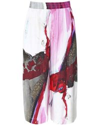 Crea Concept - Printed Culotte Trousers - Lyst