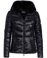 Barbour - Losail Fur Trim Quilted Jacket - Lyst