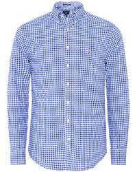 GANT - Regular Fit Broadcloth Gingham Shirt - Lyst