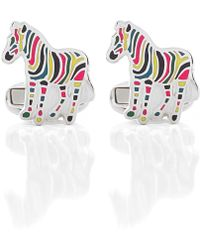 PS by Paul Smith - Stripe Zebra Cufflinks - Lyst