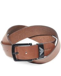 Armani - Armani Textured Leather Belt - Lyst