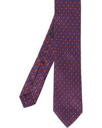 Ascot Accessories - Micro Patterned Silk Tie - Lyst