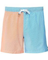 Hackett - Striped Colour Block Swim Shorts - Lyst