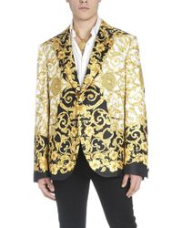 Versace - Giacca 'Gold ibiscus' - Lyst