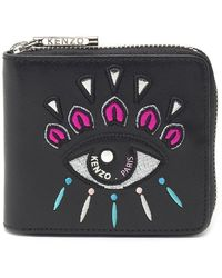 KENZO - Embroidered Mini Wallet - Lyst
