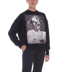 Alexander McQueen - Black Portrait Bug Embroidered Sweatshirt - Lyst