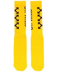 Off-White c/o Virgil Abloh 'arrows' Socks - Yellow