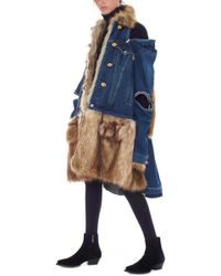Sacai - Eco Fur Jacket - Lyst
