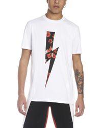 Neil Barrett - T-shirt 'Thunder anemone' - Lyst