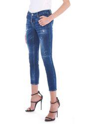 DSquared² - 'jennifer Cropped' Jeans - Lyst