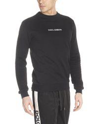 Dolce & Gabbana - Felpa ricamo logo - Lyst