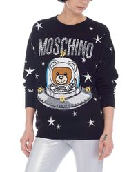 Moschino - Space Teddy-print Sweater - Lyst