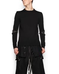 Les Hommes - Zipped Sweater - Lyst