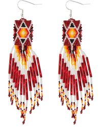 Jessie Western Dangling Earrings - Red