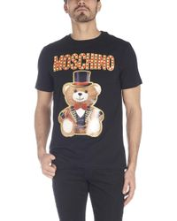 1ef46018 Moschino Mens Teddy Bear T-shirt Black in Black for Men - Lyst