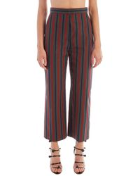 Rosetta Getty - Cropped Striped Pants - Lyst