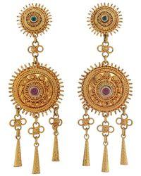 Royal Thai - Thai Gold Fringe Earrings - Lyst