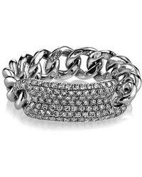 SHAY - Diamond Id Link Ring - Lyst