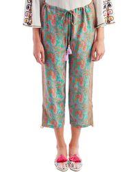 Figue - Goa Pink Paisley Pants - Lyst
