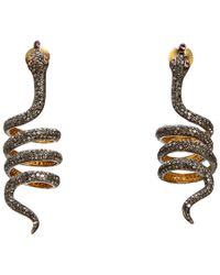 Kirat Young - Coil Snake Earrings - Lyst