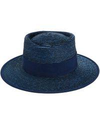 D'Estree - Shaun Canopie Court Straw Hat - Lyst