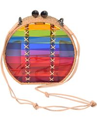 WAIWAI - Jabuticaba Rainbow Rattan Shoulder Bag - Lyst
