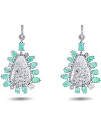 Nina Runsdorf - Emerald Drop Earrings - Lyst