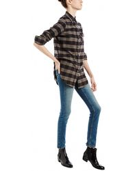RE/DONE - Levi's Ultra High Rise Straight Leg Jeans - Lyst