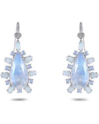 Nina Runsdorf - Moonstone Drop Earrings - Lyst
