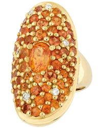 Sylvie Corbelin - Orange Sapphire Marquis Ring - Lyst